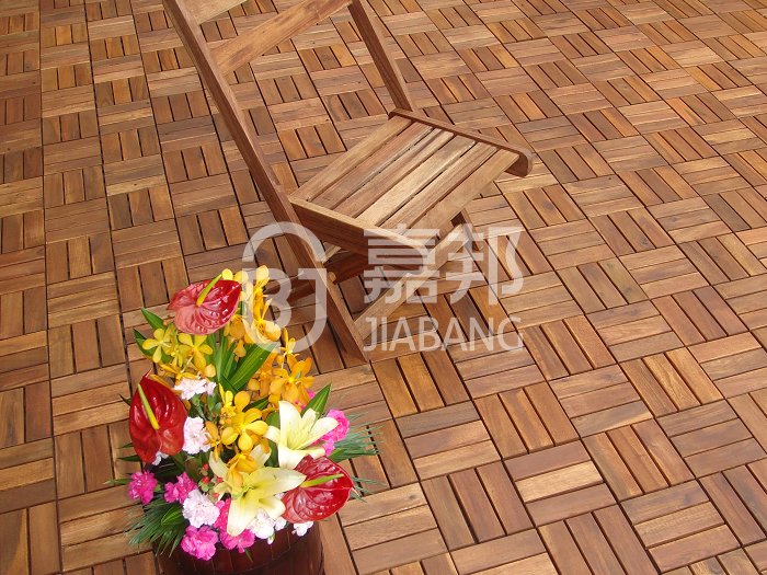 JIABANG anti-slip acacia wood deck tile cheapest factory price at discount