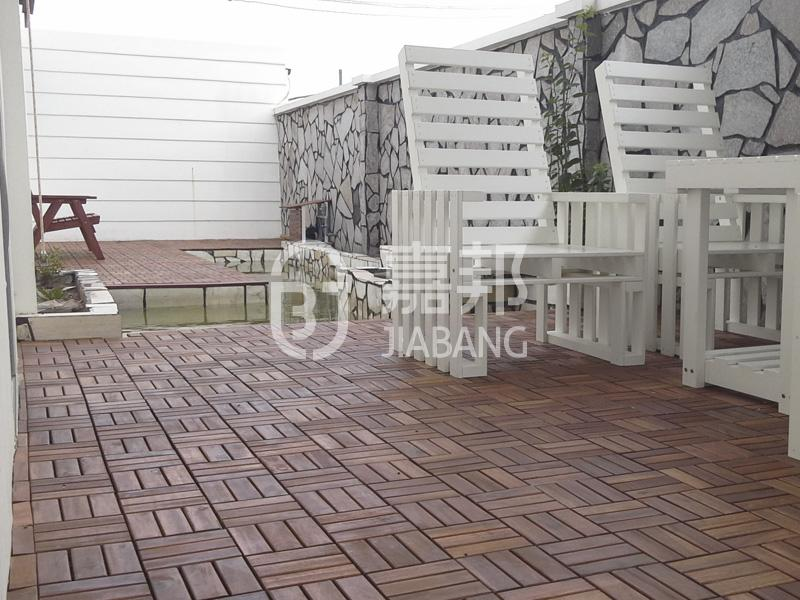 JIABANG anti-slip acacia wood deck tile cheapest factory price at discount-6
