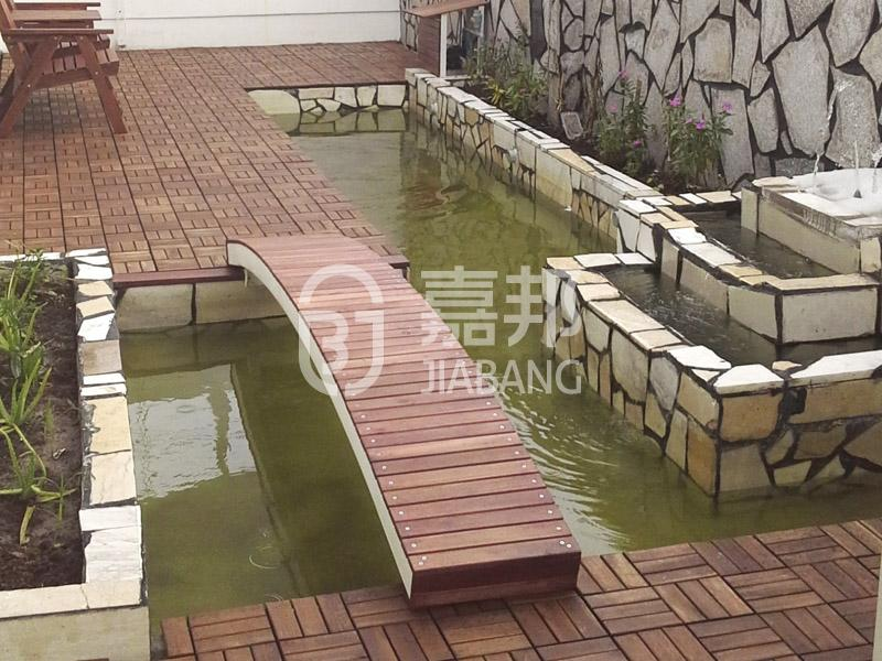 JIABANG anti-slip acacia wood deck tile cheapest factory price at discount-7