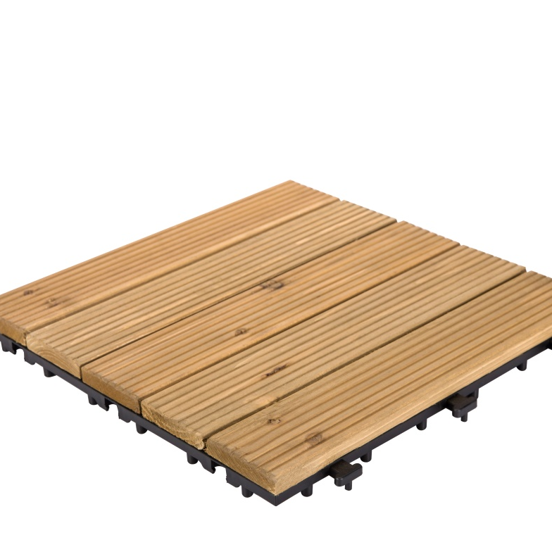 square wooden decking tiles diy wood for garden JIABANG