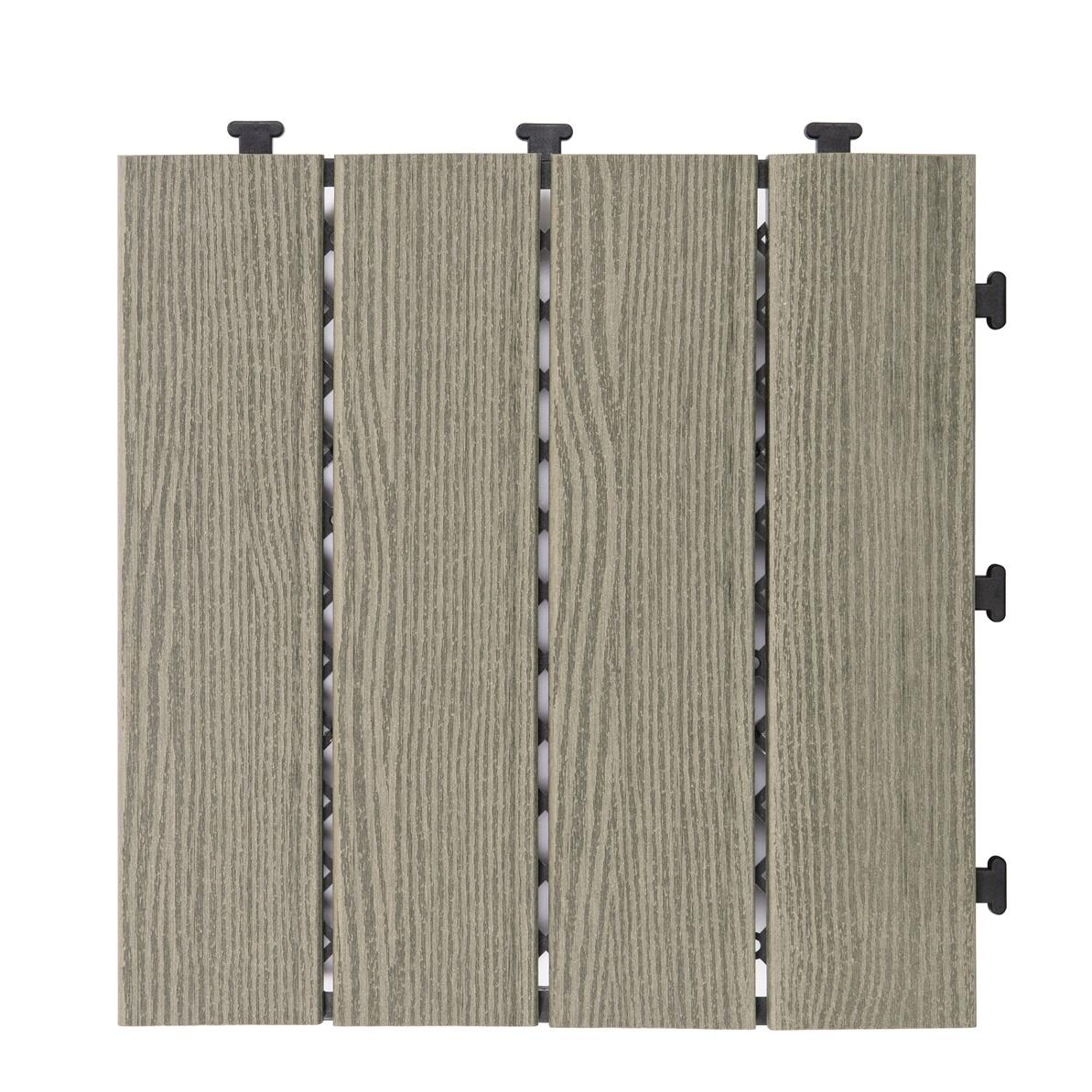 WPC Composite DIY deck tile Floor SM-4P-B BU
