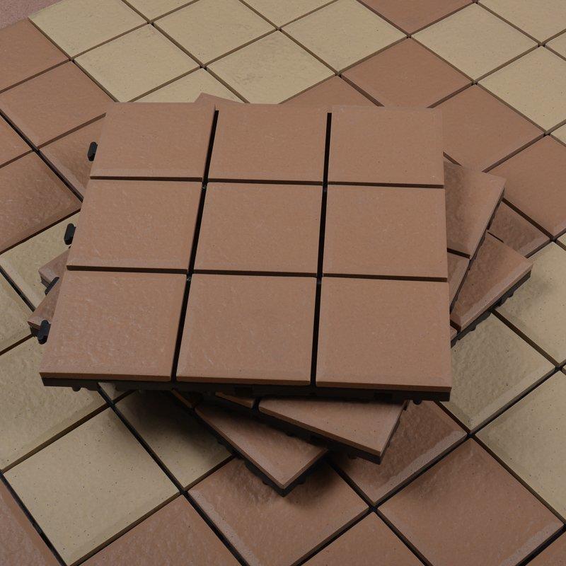 Outdoor porcelain tile deck floor