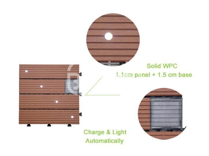 solar light tiles led JIABANG Brand balcony deck tiles
