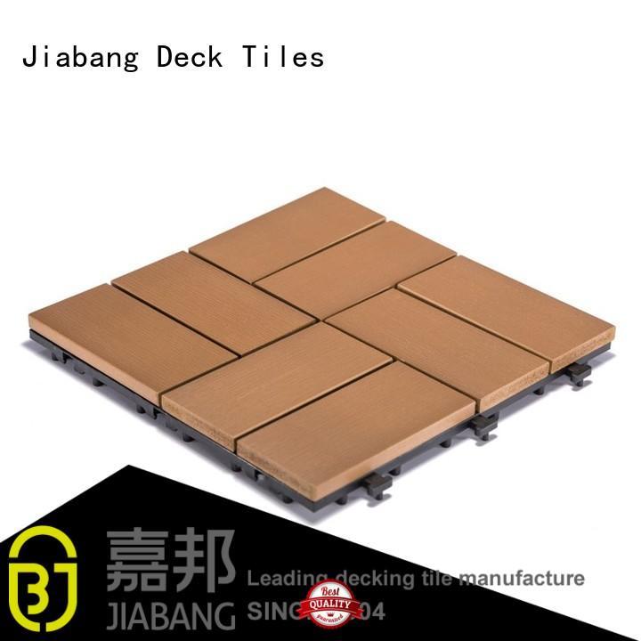 pvc deck tiles plastic floor home JIABANG Brand plastic decking tiles