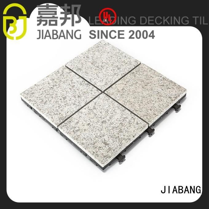 latest interlocking granite deck tiles low-cost for porch construction JIABANG