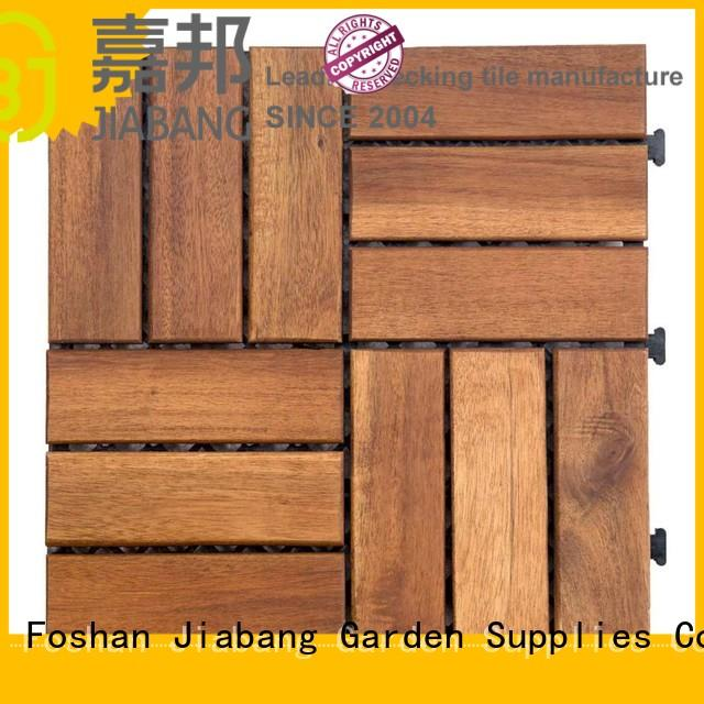 JIABANG solid wood acacia hardwood deck tiles free delivery easy installation
