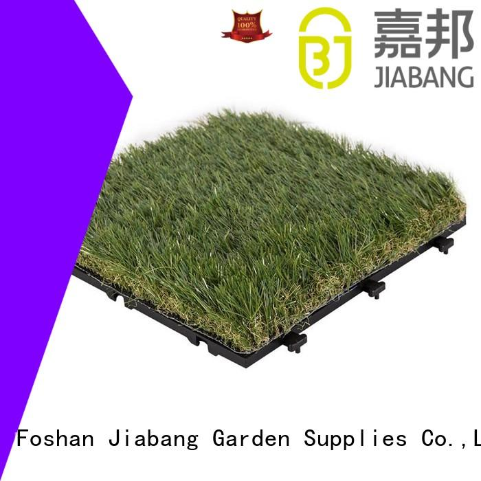 anti-bacterial artificial grass carpet tiles hot-sale for garden JIABANG