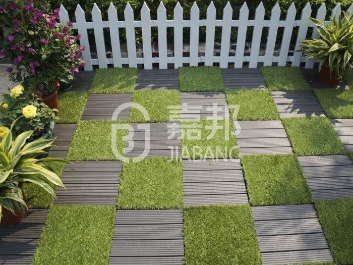 deck interlocking grass mats garden JIABANG company