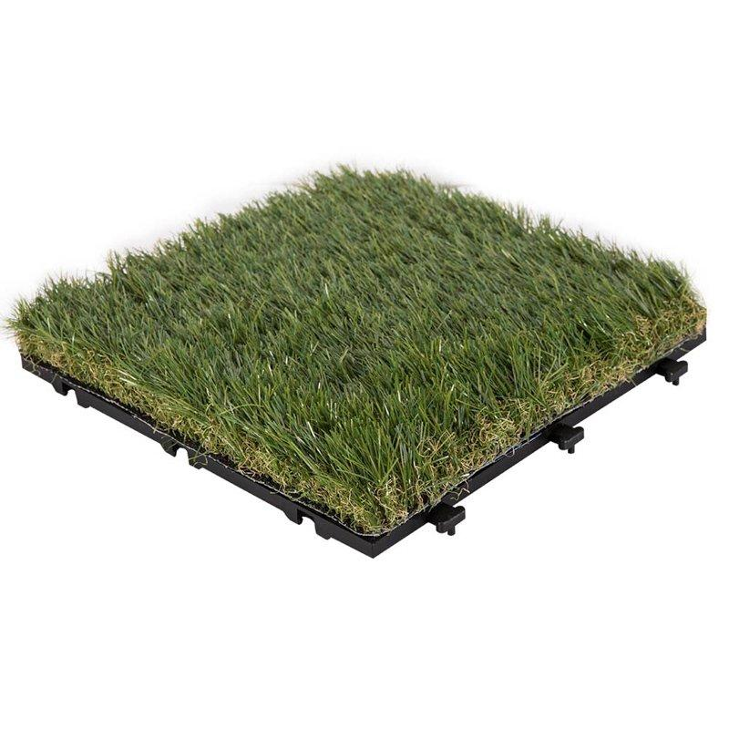 Antibacterial artificial grass deck tiles with permeable backing G018