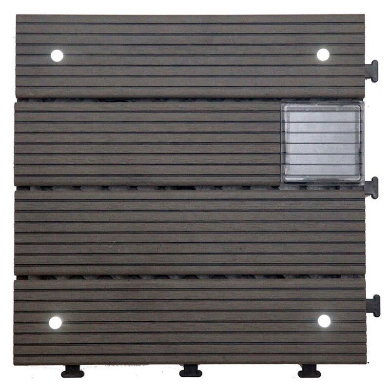 Eco-friendly WPC solar light deck tiles SSLW-WPC30 LDP