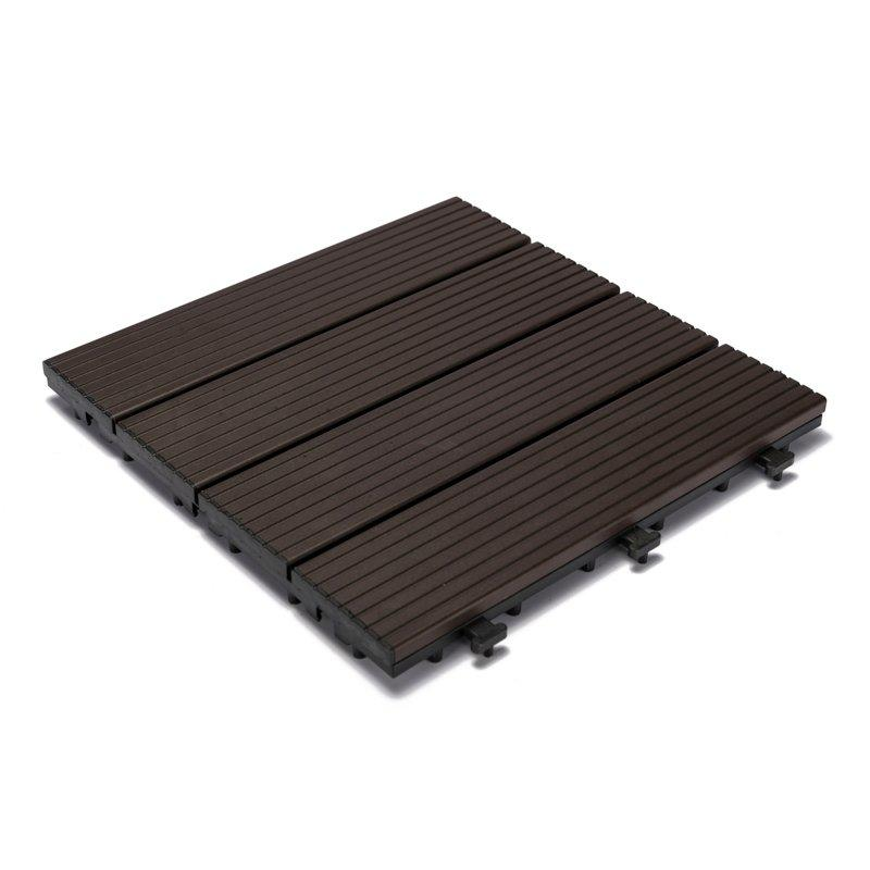 Modern metal aluminum deck tiles AL4P3030 dark brown