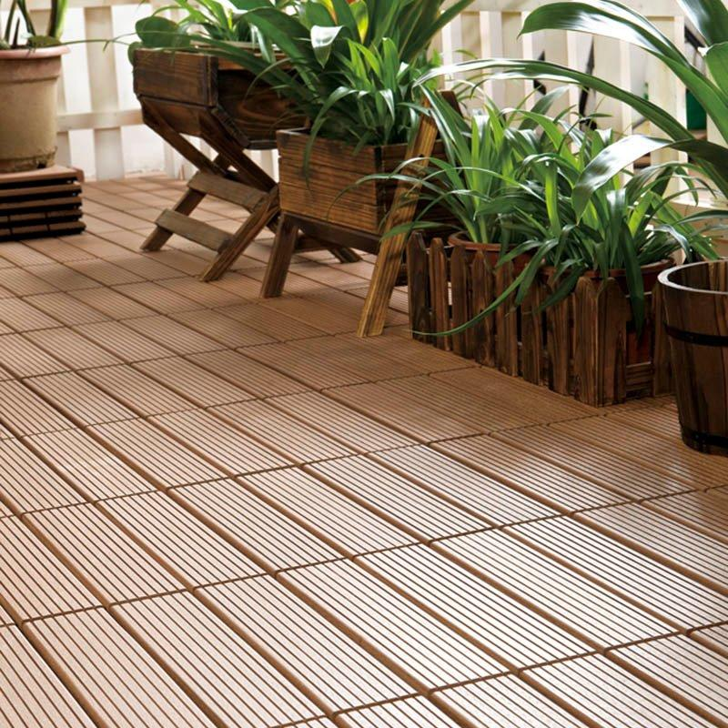 Easy install patio wpc deck tiles SM-4P-A BH