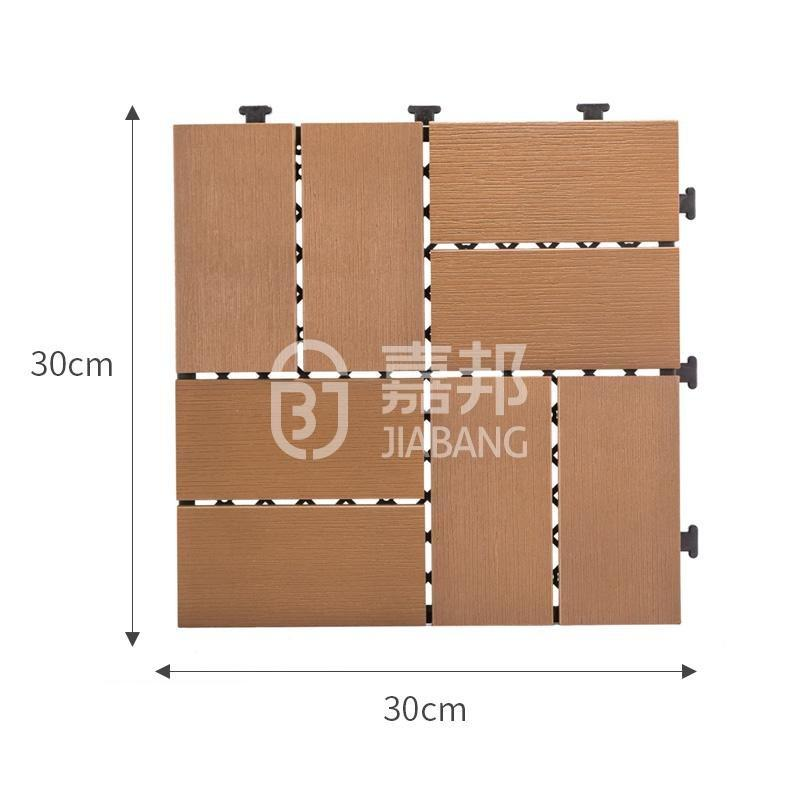 JIABANG pvc plastic decking tiles popular garden path