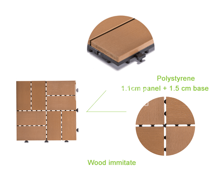 JIABANG pvc plastic decking tiles popular garden path-4