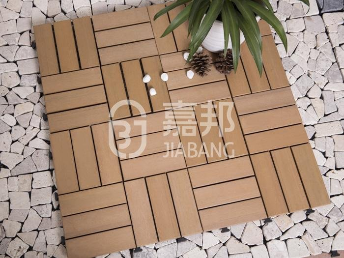 outdoor plastic deck tiles anti-siding garden path JIABANG-6