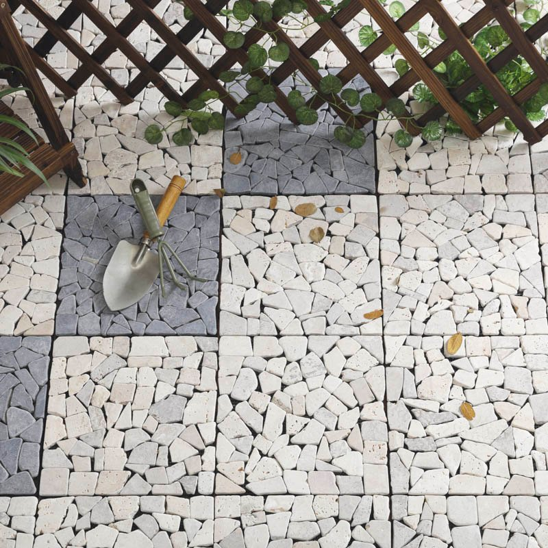 JIABANG Travertine stone patio deck tiles TTLNP-YL Travertine Deck Tile image114