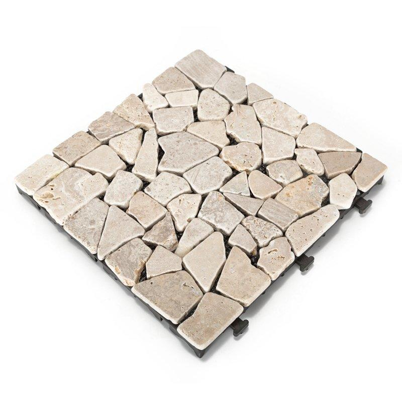 Travertine stone patio deck tiles TTLNP-YL