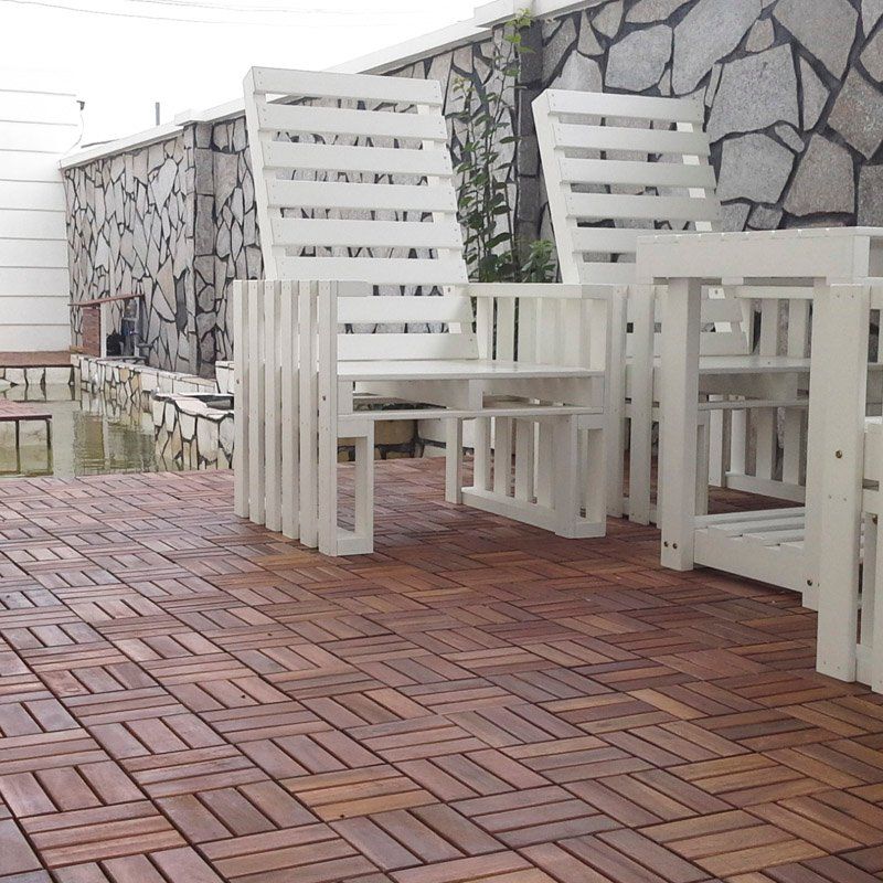 JIABANG Acacia interlocking outdoor tiles A12P3030PC Acacia Deck Tile image113
