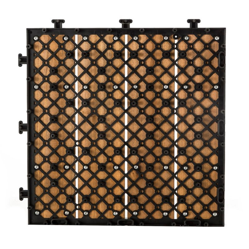 JIABANG Outdoor wood flooring deck tiles S4P3030BH Fir Wood Deck Tile image112