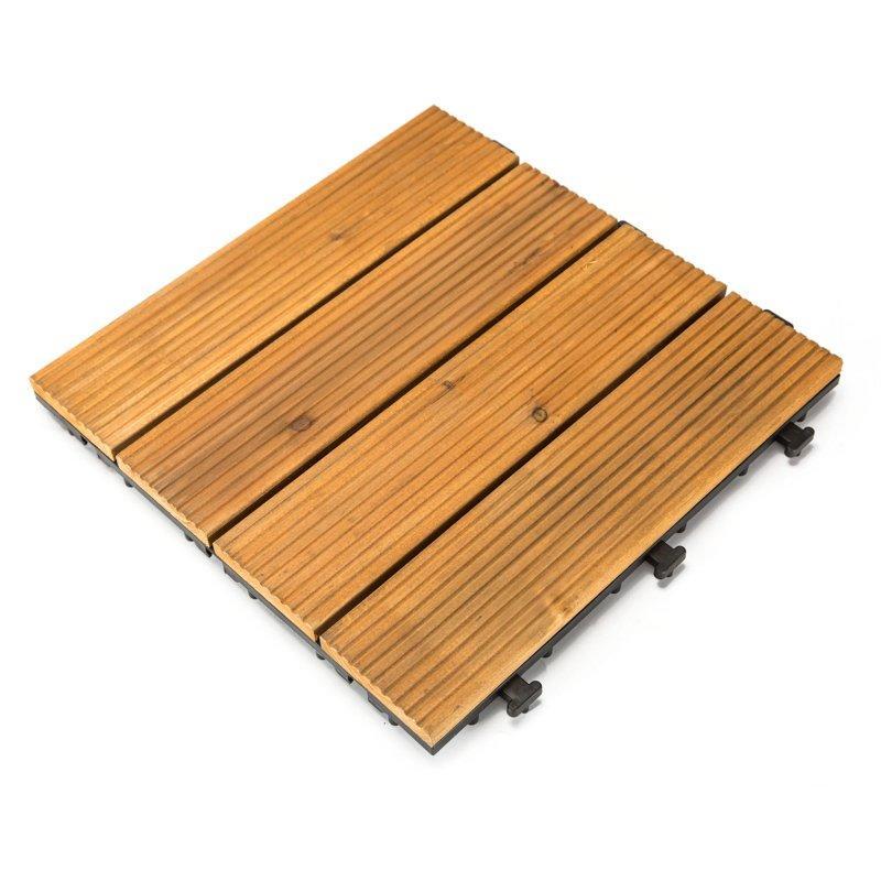Outdoor wood flooring deck tiles S4P3030BH