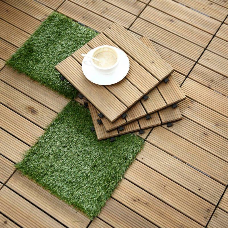 Outdoor wood flooring deck tiles S4P3030BH