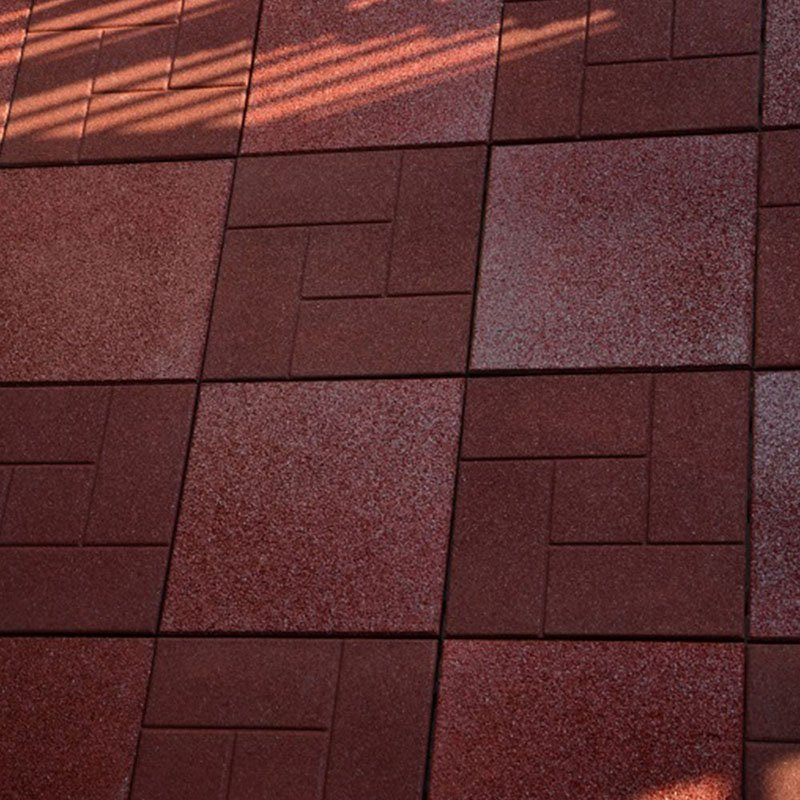 JIABANG SBR rubber gym deck tiles XJ-SBR-RD001 SBR Rubber Deck Tile image106