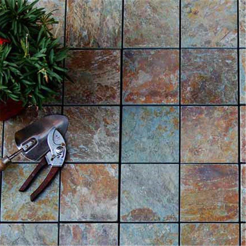Non slip slate stone garden deck tiles JBT001