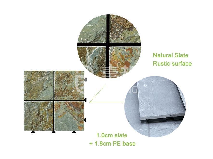 interlocking stone deck tiles stone basement decoration for patio-3