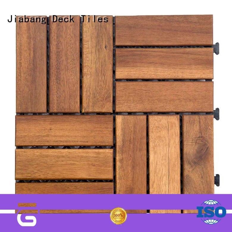 JIABANG anti-slip acacia wood deck tile cheapest factory price at discount
