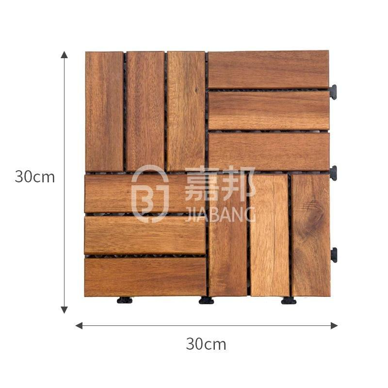 JIABANG anti-slip acacia wood deck tile cheapest factory price at discount-1