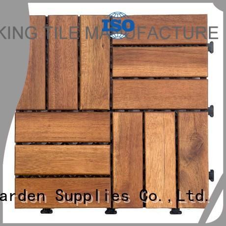 acacia deck wood flooring interlocking acacia deck tile JIABANG