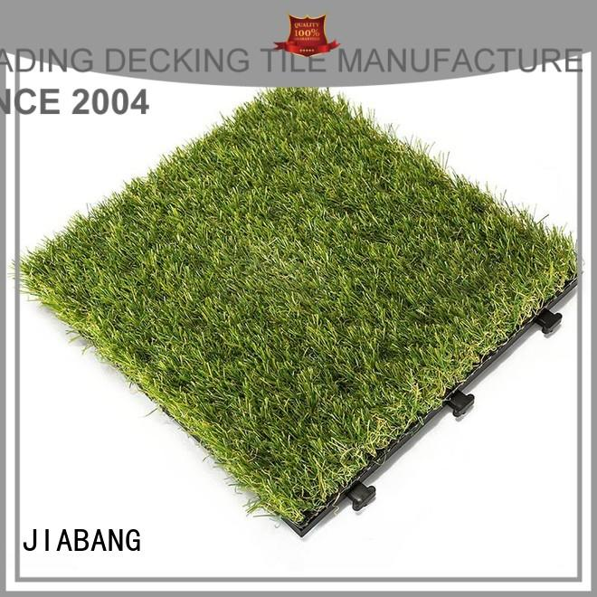 synthetic turf grass tiles landscape path building JIABANG