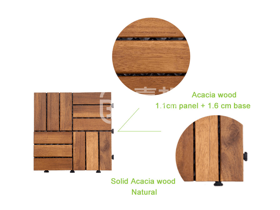 JIABANG anti-slip acacia wood deck tile cheapest factory price at discount-3