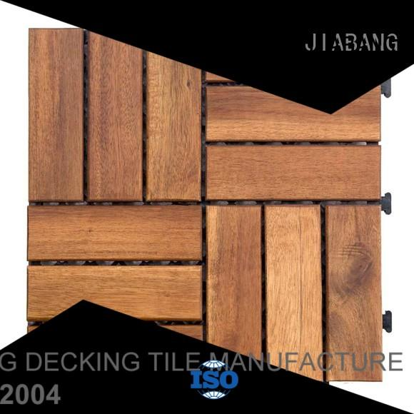 JIABANG durable acacia wood tile outdoor easy installation