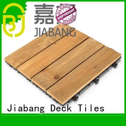 JIABANG interlocking hardwood deck tiles wooddeck for garden