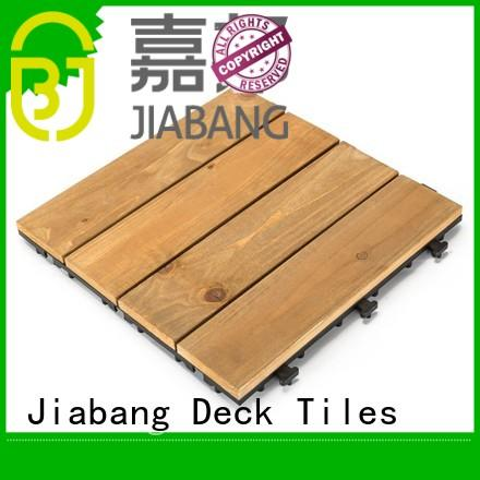 JIABANG interlocking hardwood deck tiles wood deck for garden