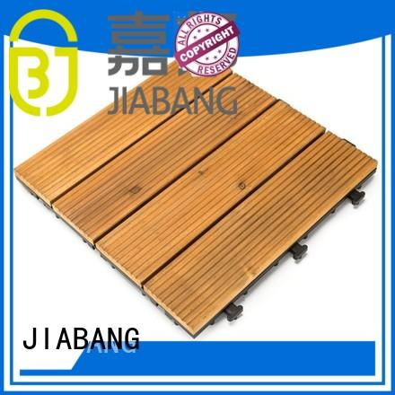 solid Custom fir floor interlocking wood deck tiles JIABANG outdoor