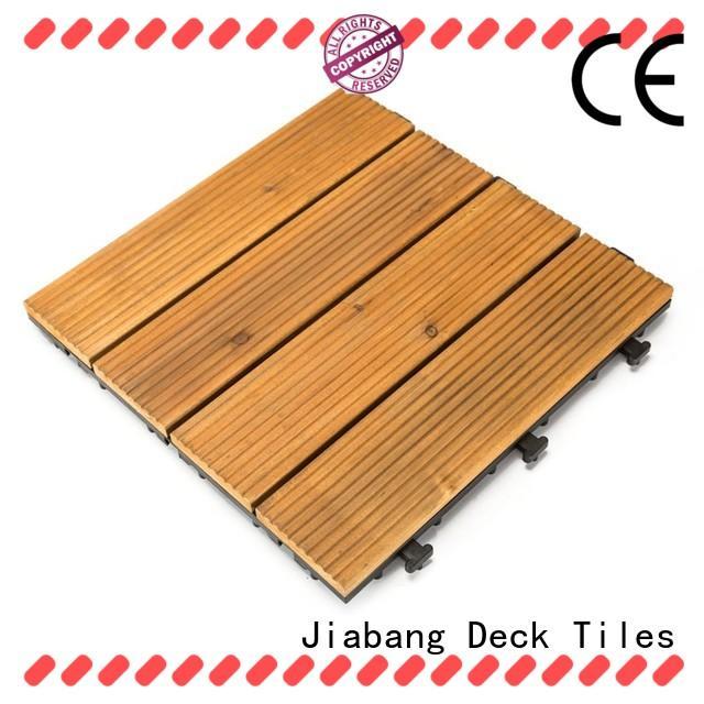 JIABANG interlocking hardwood deck tiles flooringwood for balcony