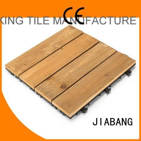 Custom balcony interlocking wood deck tiles fir JIABANG