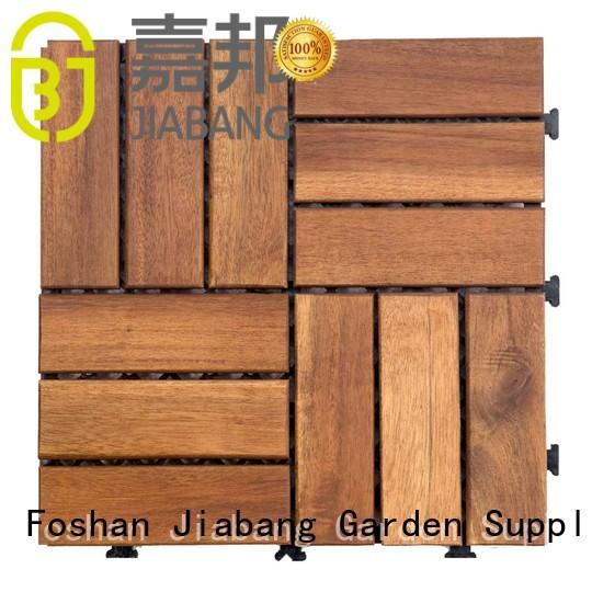 interlocking acacia wood tile flooring interlocking for decoration JIABANG