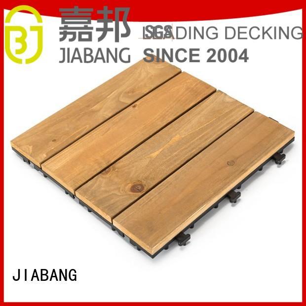 refinishing natural JIABANG Brand square wooden decking tiles