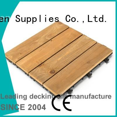 natural modular wood decking long size for balcony JIABANG