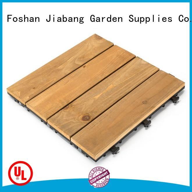 JIABANG natural wood floor decking tiles long size for garden