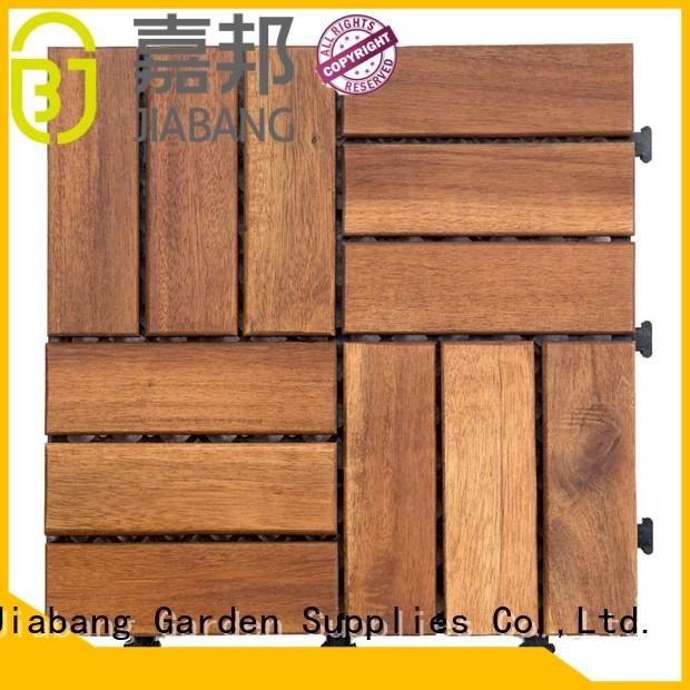 JIABANG Brand acacia deck outdoor solid acacia tile flooring tiles