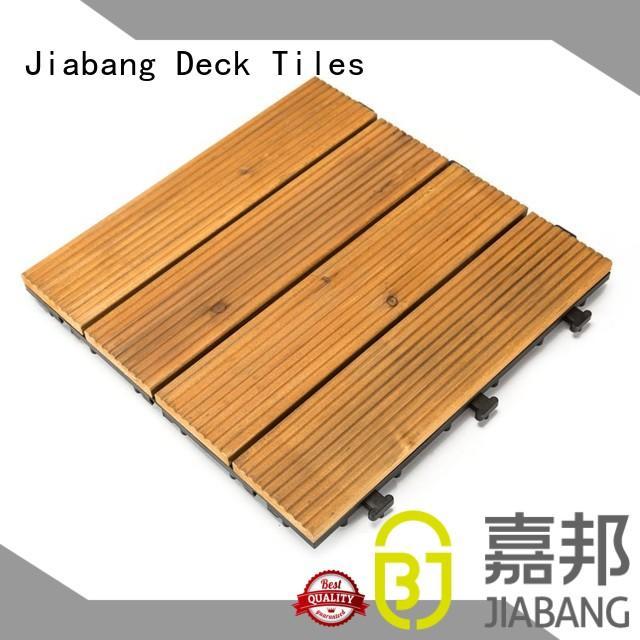 JIABANG interlocking interlocking wood deck tiles wooddeck for garden