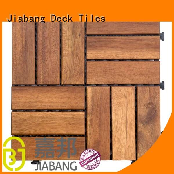 JIABANG outdoor acacia deck tile low-cost easy installation