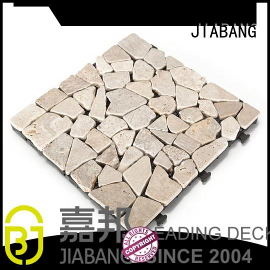 Hot diy travertine deck tiles playground color JIABANG Brand