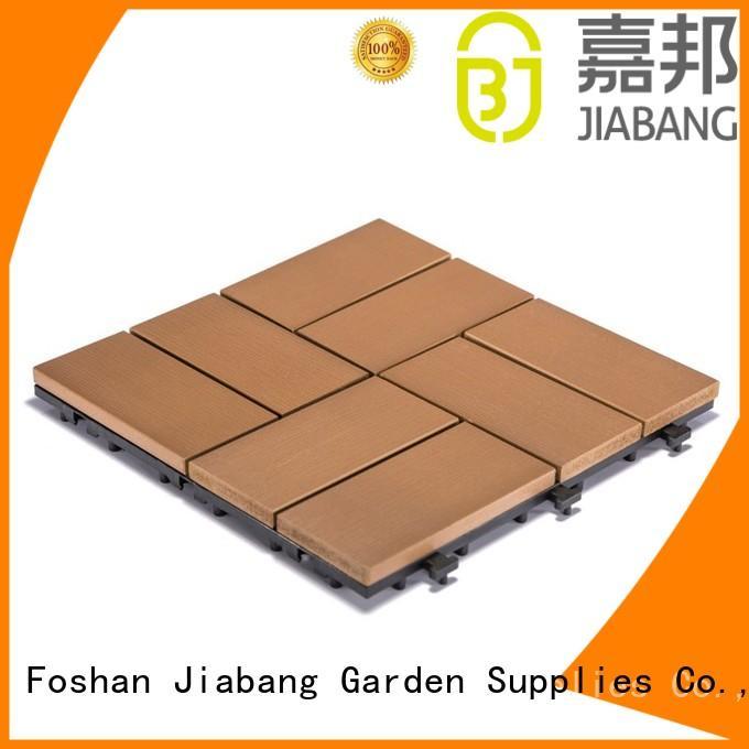 JIABANG durable plastic decking tiles popular gazebo decoration