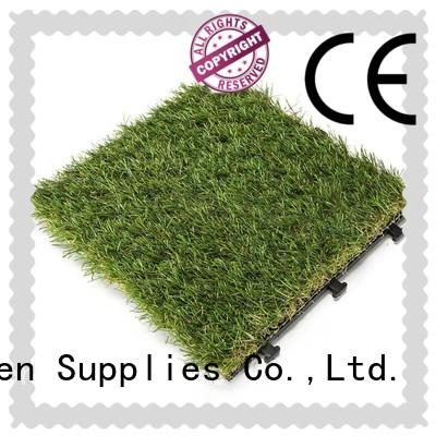 artificial grass tiles flooring hot-sale for wholesale