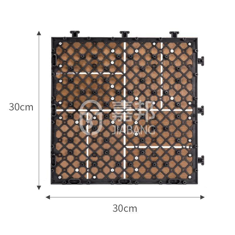 outdoor plastic deck tiles anti-siding garden path JIABANG-2